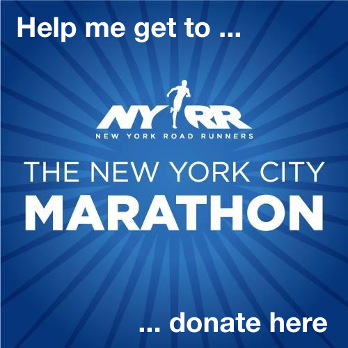 Help me get to the New York City Marathon. Donate here.